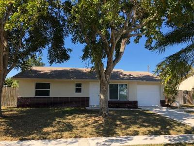 Lake Worth Single Family Home For Sale: 4835 Poseidon Place