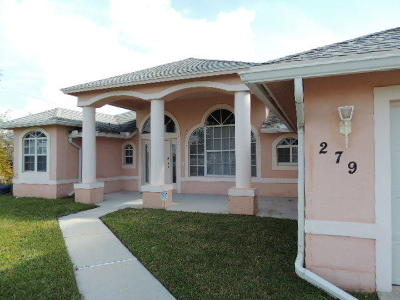 Port Saint Lucie, Saint Lucie West Single Family Home For Sale: 279 NW N Macedo Boulevard