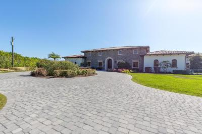 Wellington Single Family Home For Sale: 15725 & 15726 Estancia Lane