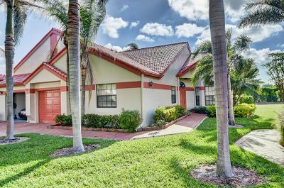 Delray Beach Single Family Home For Sale: 7533 Lexington Club Boulevard #B