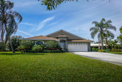 Palm Beach Gardens Single Family Home Contingent: 16109 72nd Drive