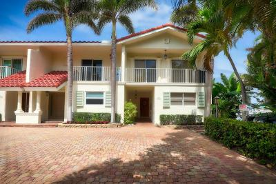 Highland Beach Townhouse For Sale: 1101 Highland Beach Drive #A