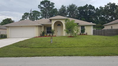 Port Saint Lucie Single Family Home For Sale: 517 SW Paar Drive