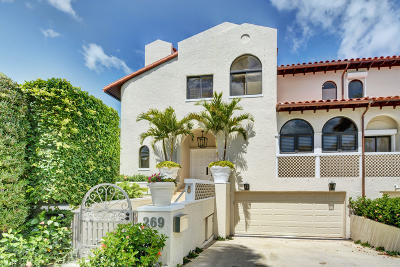 Palm Beach Townhouse For Sale: 269 Everglade Avenue