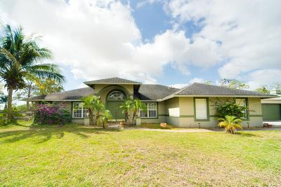 Lake Worth Single Family Home Contingent: 10920 Barn Road