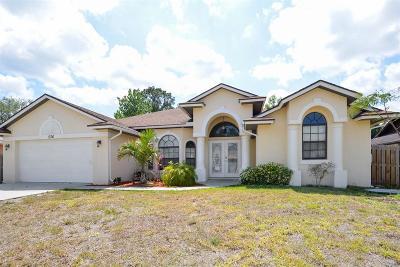 Port Saint Lucie, Saint Lucie West Single Family Home For Sale: 536 SE Crosspoint Drive