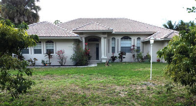 Royal Palm Beach Single Family Home For Sale: 5133 Avocado Boulevard