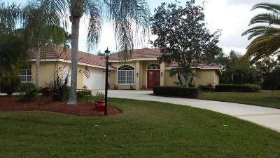 Port Saint Lucie Single Family Home For Sale: 7931 Plantation Lakes Drive