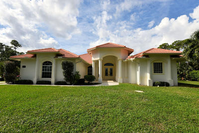 Jupiter Farms Single Family Home For Sale: 15633 Jupiter Farms Road