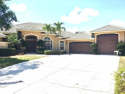 Jupiter Single Family Home For Sale: 18621 Lakeside Gardens Drive