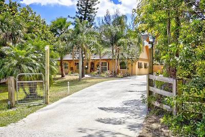 Jupiter Single Family Home Contingent: 9394 Sandy Run Road