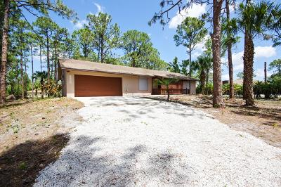 Jupiter Single Family Home For Sale: 12575 165th Road