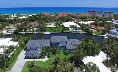 Gulf Stream, Ocean Ridge Single Family Home For Sale: 16 Sabal Island Drive