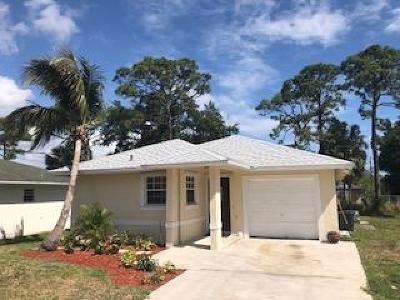 Jupiter Single Family Home For Sale: 6643 2nd Street