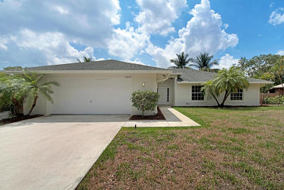 Palm Beach Gardens Single Family Home For Sale: 2432 Wilsee Road