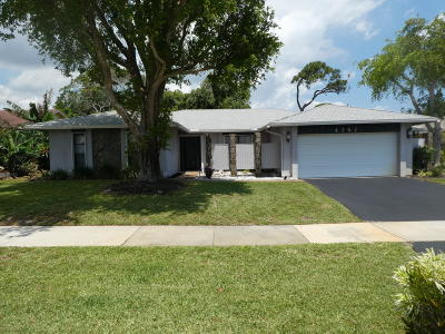 Boca Raton Single Family Home For Sale: 4767 Brandywine Drive