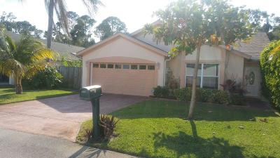 West Palm Beach Single Family Home For Sale: 2805 W Foxhall Dr W