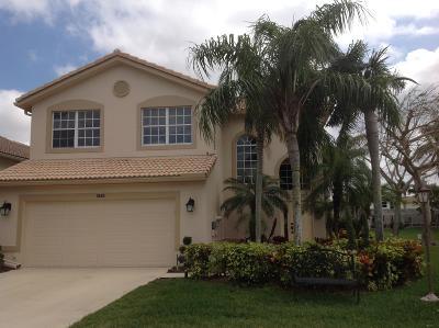 Boynton Beach Single Family Home For Sale: 7524 Colony Lake Drive