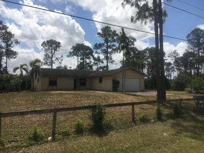 Loxahatchee Single Family Home Contingent: 17856 86th Street
