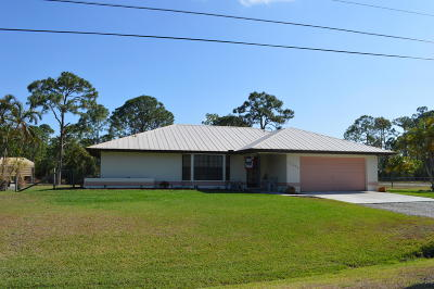 West Palm Beach Single Family Home Contingent: 13252 74th Street