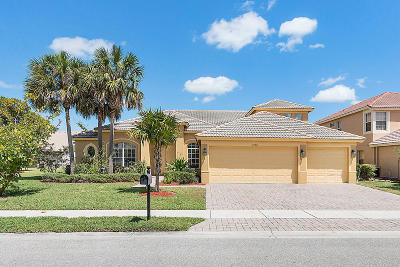 West Palm Beach Single Family Home For Sale: 3708 Turtle Island Court