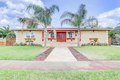 West Palm Beach Single Family Home For Sale: 3614 Poinsettia Avenue #A