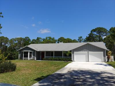 Jupiter Single Family Home For Sale: 10735 157th Street