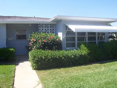 Boynton Beach Single Family Home For Sale: 290 Main Boulevard #D