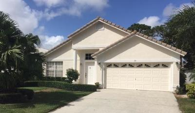 Jupiter Single Family Home For Sale: 114 Stonebriar Boulevard
