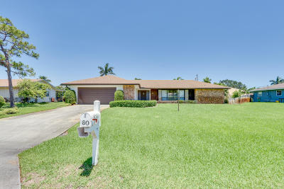Lake Worth Single Family Home For Sale: 80 W Rubber Tree Drive