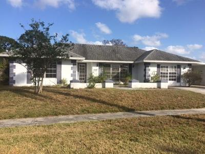 Port Saint Lucie Single Family Home For Sale: 1862 SE Erwin Road