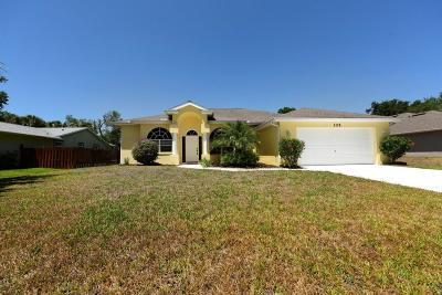 Indian River County Single Family Home For Sale: 125 Midvale Terrace
