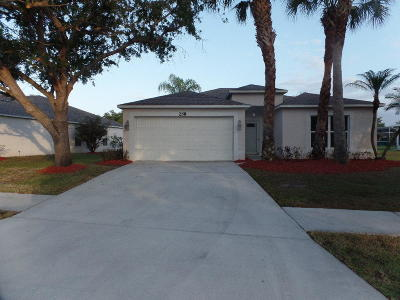 Port Saint Lucie Single Family Home For Sale: 258 SW Panther Trace