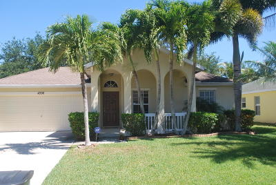 Stuart FL Single Family Home For Sale: $254,900