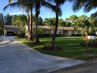 West Palm Beach Single Family Home For Sale: 5065 Horseshoe Circle S
