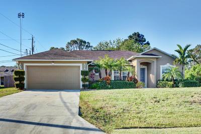 Port Saint Lucie, Saint Lucie West Single Family Home For Sale: 100 SW Exora Terrace