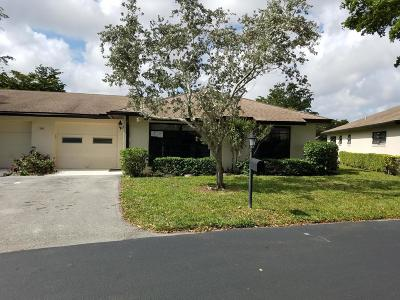 Boynton Beach Single Family Home For Sale: 10411 Quailwood Lane #B