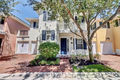 Delray Beach Townhouse For Sale: 1057 E Heritage Club Circle
