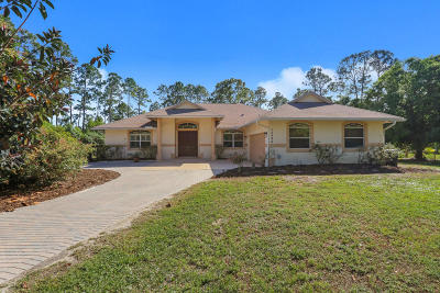 Jupiter Single Family Home For Sale: 12596 170th Road