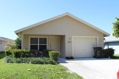 Delray Beach Single Family Home For Sale: 412 Southridge Road