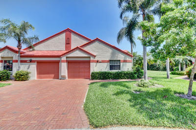 Delray Beach Single Family Home For Sale: 7536 Lexington Club Boulevard #B