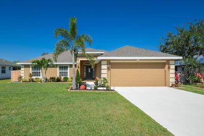 Port Saint Lucie Single Family Home For Sale: 3256 SW Hambrick Street