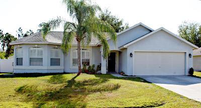 Port Saint Lucie Single Family Home For Sale: 3149 SW Dimattia Street