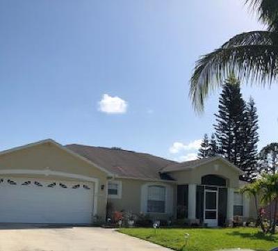 Port Saint Lucie Single Family Home For Sale: 1532 SW Merchant Lane