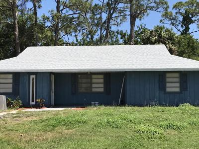 Fort Pierce Single Family Home For Sale: 5106 Palm Drive