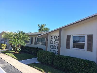 West Palm Beach Single Family Home For Sale: 2586 Emory Drive E #D