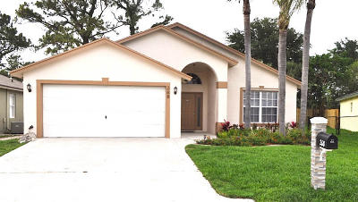 Greenacres Single Family Home For Sale: 268 Malibu Circle