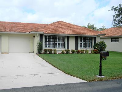 Boynton Beach Single Family Home For Sale: 4655 Apple Tree Circle #B