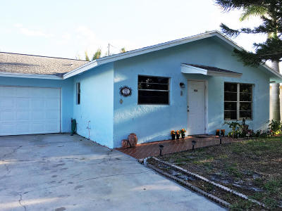 Jupiter Single Family Home For Sale: 906 W Hawie Street