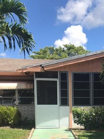 Delray Beach FL Single Family Home For Sale: $149,999